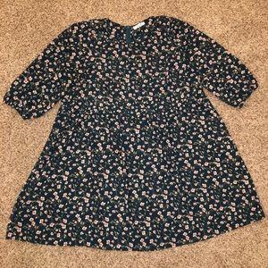 ModCloth Jessy B Floral Long-Sleeve Dress